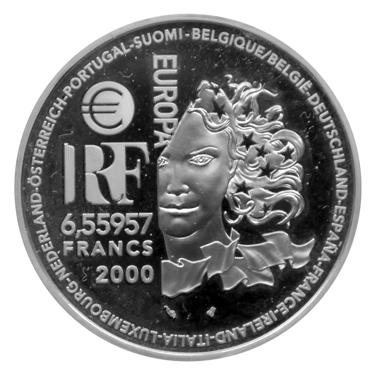 6 55957 francs - art moderne  type  u0026quot eglise de ronchamp u0026quot   - france