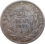 20 centimes Napoléon III (petite tête nue) -  revers