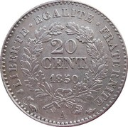 20 centimes Cérès (IIe République) -  revers