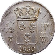 ¼ franc Charles X -  avers