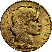 20 francs Coq (Liberté, égalité, fraternité) -  avers