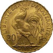 20 francs Coq (Liberté, égalité, fraternité) -  revers