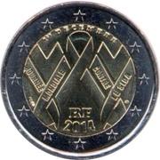 2 euros Sidaction (non colorée) -  avers