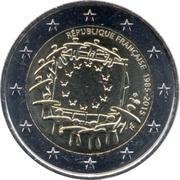 2 euros Drapeau européen (non colorée) -  avers