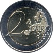 2 euros Drapeau européen (non colorée) -  revers