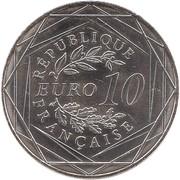 10 euros Euro UEFA 2016 -  avers