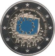 2 euros Drapeau européen (colorée) -  avers