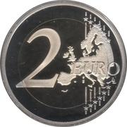 2 euros Drapeau européen (colorée) -  revers
