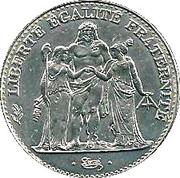5 francs Hercule de Dupré -  revers