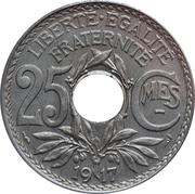 25 centimes Lindauer (souligné) -  revers