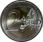 2 euros François Mitterrand -  revers