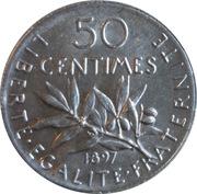 50 centimes Semeuse (Argent) -  revers