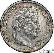 ½ franc Louis Philippe -  avers
