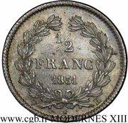 ½ franc Louis Philippe -  revers