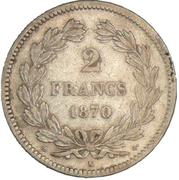 2 francs Cérès (IIIe République, sans légende) -  revers