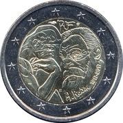 2 euros Auguste Rodin -  avers