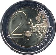 2 euros Auguste Rodin -  revers