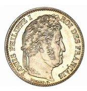 1 franc Louis-Philippe (tête laurée) -  avers