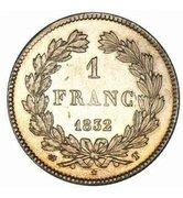 1 franc Louis-Philippe (tête laurée) -  revers