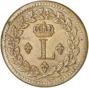 1 décime Louis XVIII (au L couronné, lourde) -  avers