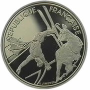100 francs Albertville 92 (Ski acrobatique) -  avers