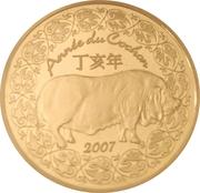 10 euros Année du Cochon -  avers