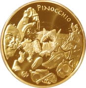 20 euros Pinocchio -  revers