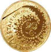 20 euros Hansel et Gretel -  avers