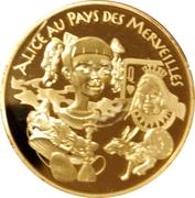 20 euros Alice au pays des merveilles -  revers