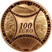 100 euros Sites de l'institut monétaire français -  revers