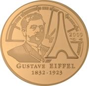 50 euros Gustave Eiffel (or) – revers