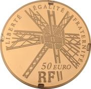 50 euros Gustave Eiffel (or) – avers