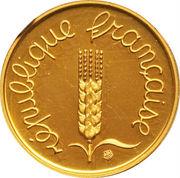 1 centime Épi (Piéfort en or) – avers