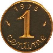 1 centime Épi (Piéfort en or) – revers
