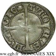 """Denier tournois - Charles VII dit """"le Victorieux"""" – revers"""