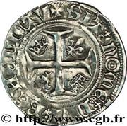 """Blanc dit """"Guénar"""" - Charles VI dit """"le fou"""" (1380-1422) -  revers"""