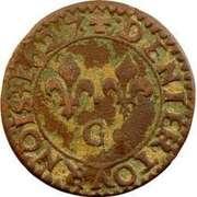 Denier-Tournois Louis XIII (Poitiers, Type 2) -  revers