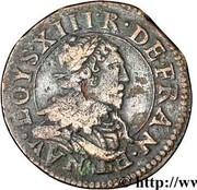 Double-Tournois Lorrain Louis XIII (Stenay, Type 9) -  avers
