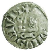 """Denier Tournois (à l'O long) - Philippe IV dit """"le Bel"""" – revers"""