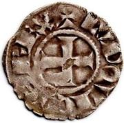 Denier tournois(légende TVRONIS) - Louis VIII et début du règne de Louis IX – avers