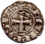 """Denier tournois (à l'O rond) - Philippe IV dit """"le Bel"""" – avers"""