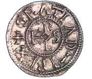 """Denier de Rennes - Charles II dit """"le Chauve"""" – avers"""
