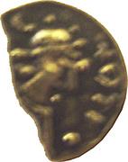 Trien ou sou d'or (mérovingien V-VIème siècle) – avers