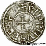 Denier Pépin II d'Aquitaine (839-852) – avers