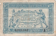 50 centimes - Trésorerie aux Armées (type 1917) – avers