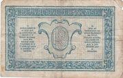 50 centimes - Trésorerie aux Armées (type 1917) – revers
