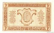 1 franc - Trésorerie aux Armées (type 1917) – revers