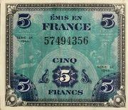 5 francs Drapeau (type 1944) – avers