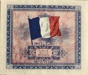 5 francs Drapeau (type 1944) – revers