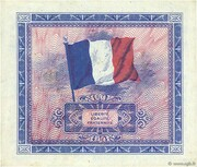 10 francs Drapeau (type 1944) – revers